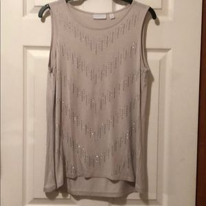 NY&co taupe cute comfy tank w/details